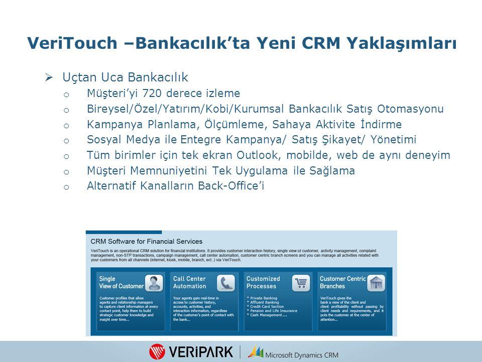 VeriTouch –Bankacılık'ta Yeni CRM Yaklaşımları