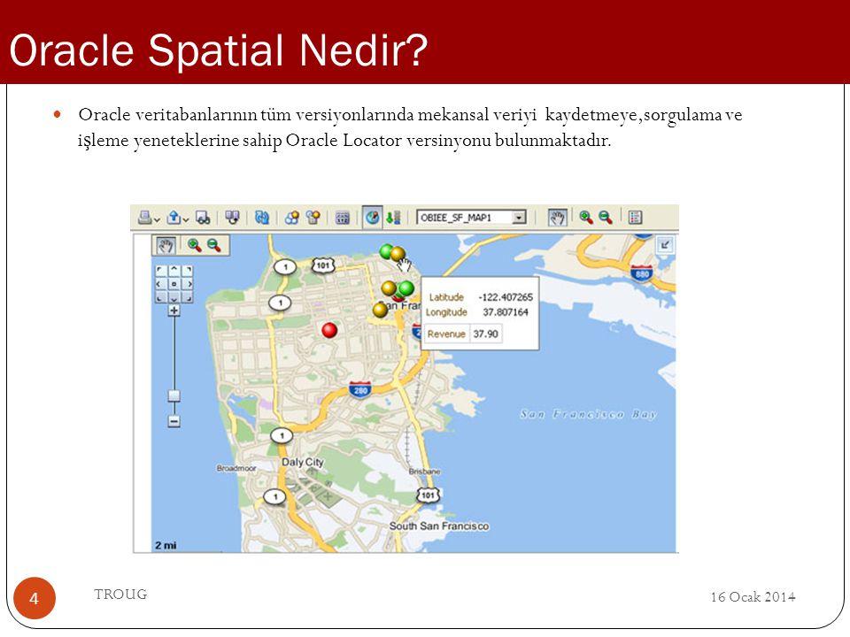 Oracle Spatial Nedir