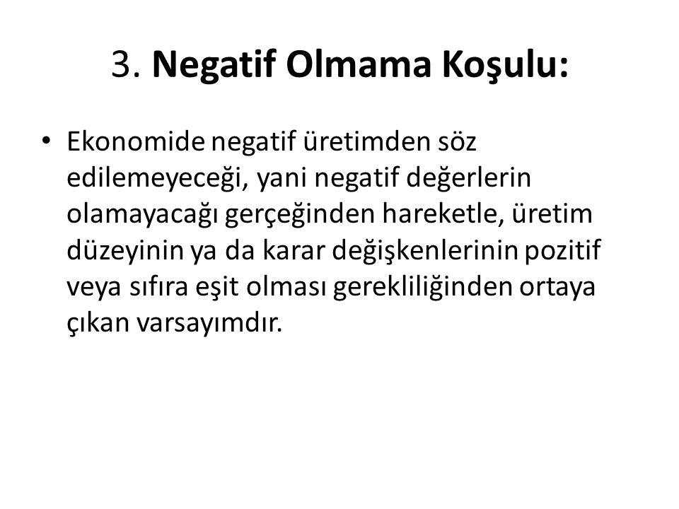3. Negatif Olmama Koşulu:
