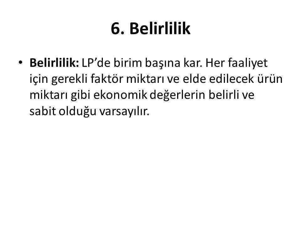 6. Belirlilik