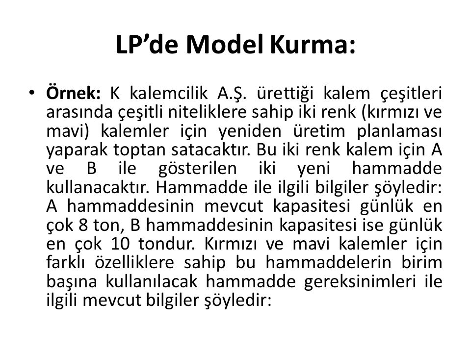 LP'de Model Kurma: