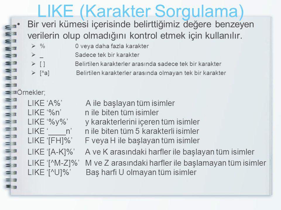 LIKE (Karakter Sorgulama)