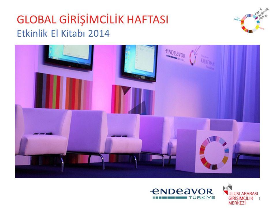 GLOBAL GİRİŞİMCİLİK HAFTASI Etkinlik El Kitabı 2014