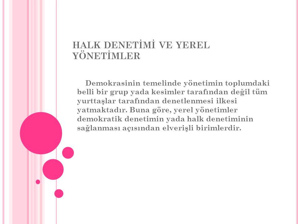HALK DENETİMİ VE YEREL YÖNETİMLER
