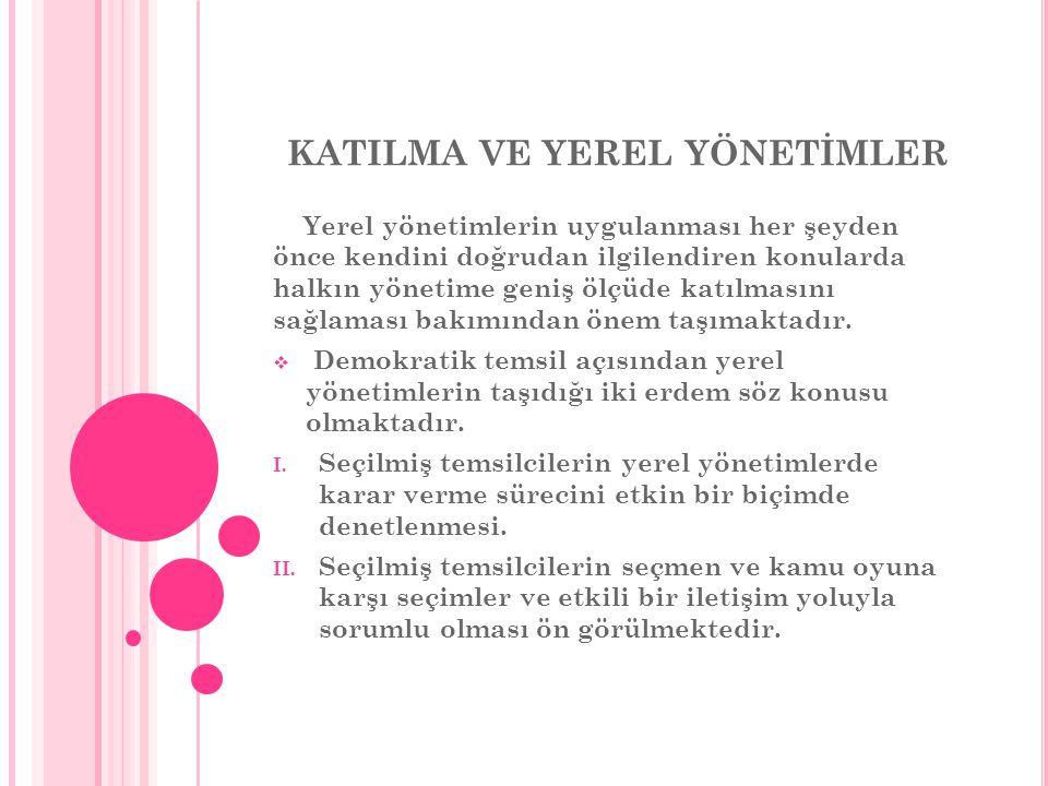KATILMA VE YEREL YÖNETİMLER