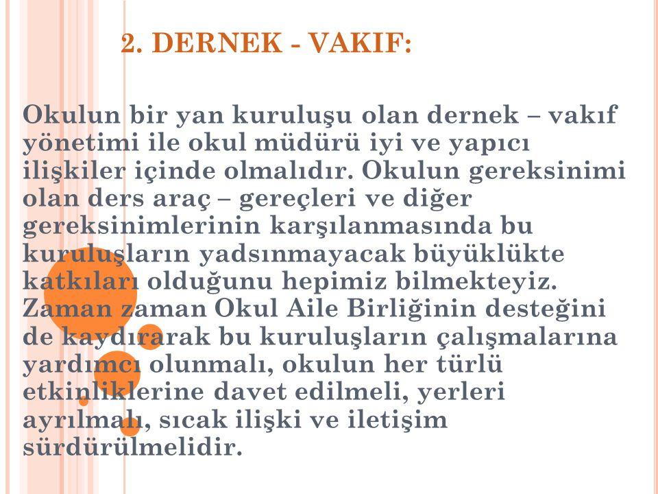 2. DERNEK - VAKIF: