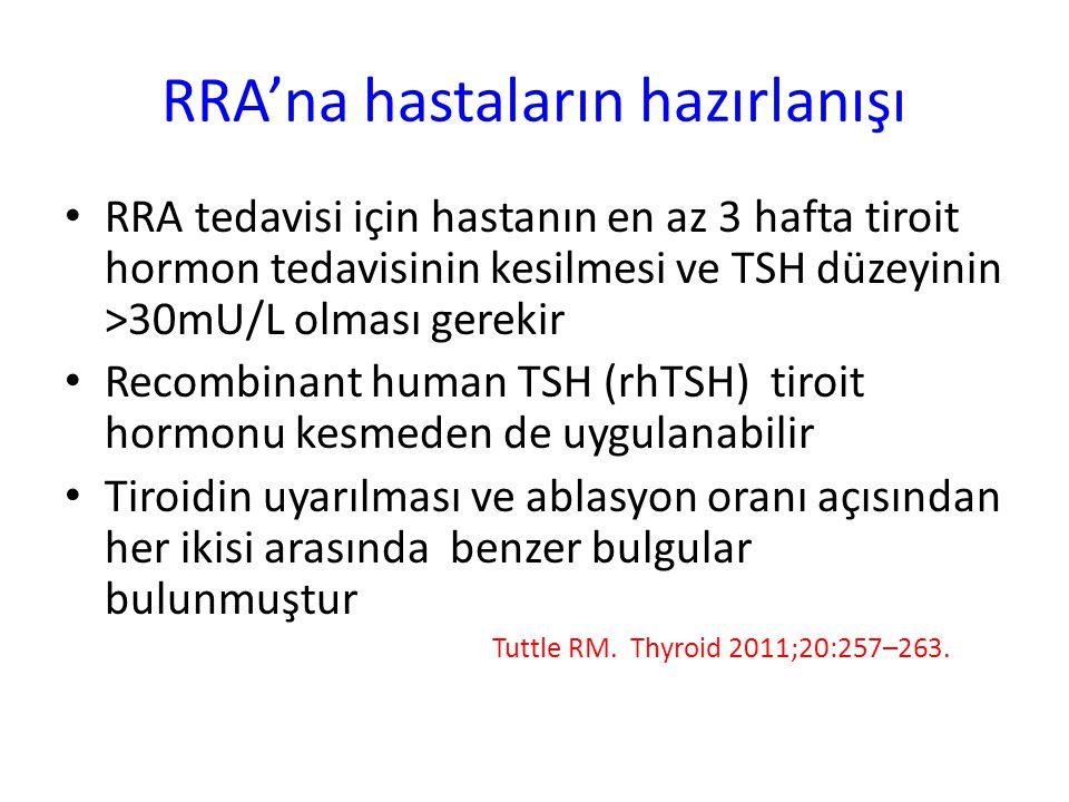 RRA'na hastaların hazırlanışı
