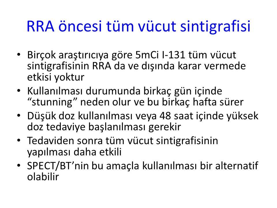 RRA öncesi tüm vücut sintigrafisi