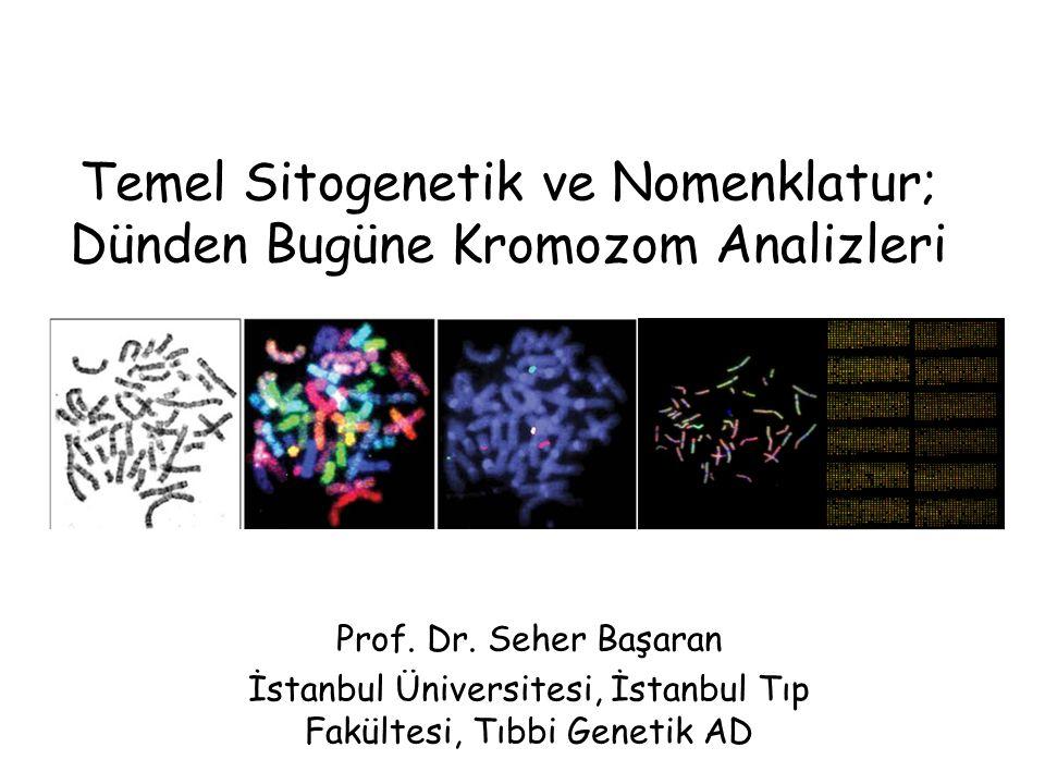 Temel Sitogenetik ve Nomenklatur; Dünden Bugüne Kromozom Analizleri