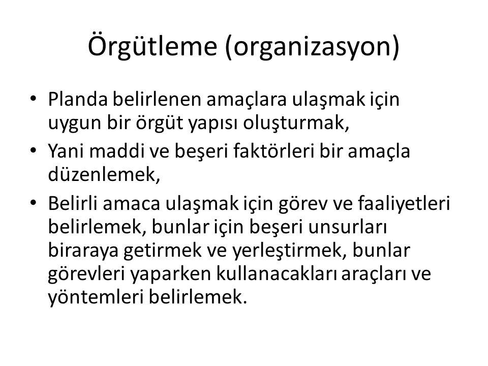 Örgütleme (organizasyon)