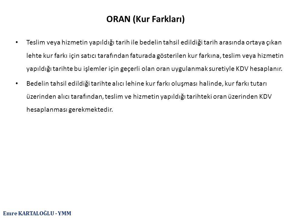 ORAN (Kur Farkları)