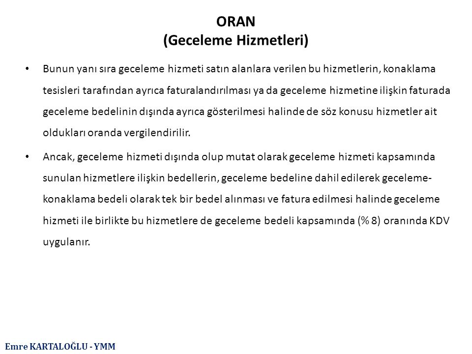 ORAN (Geceleme Hizmetleri)