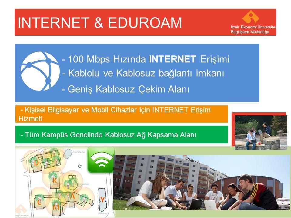 INTERNET & EDUROAM - 100 Mbps Hızında INTERNET Erişimi