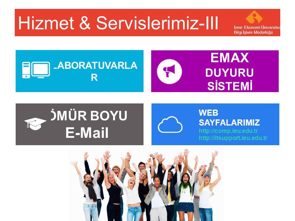 Hizmet & Servislerimiz-III