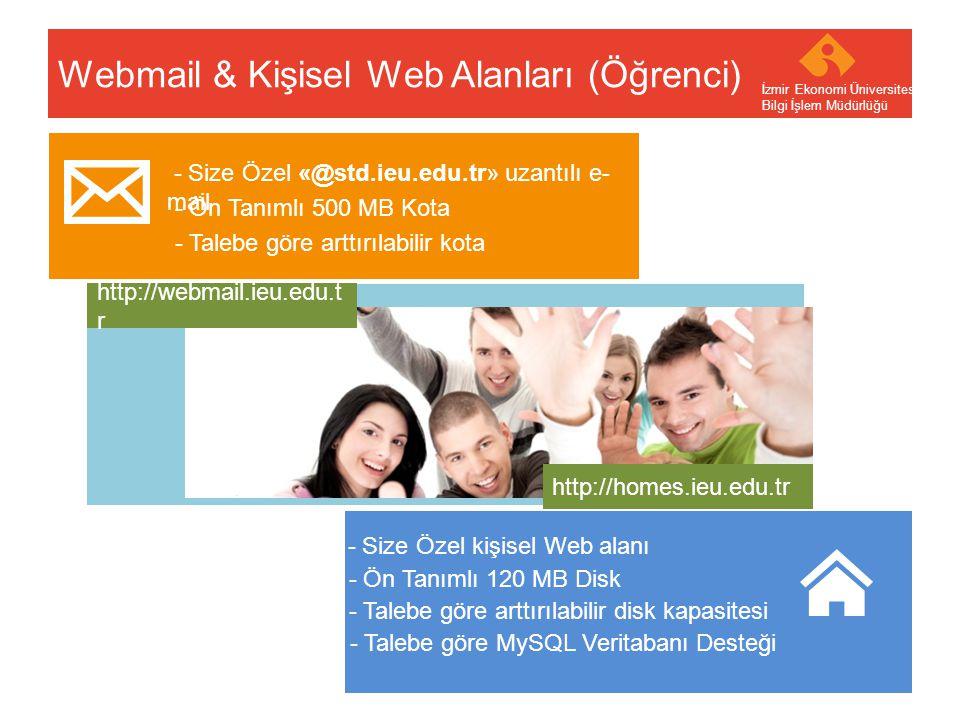 Webmail & Kişisel Web Alanları (Öğrenci)