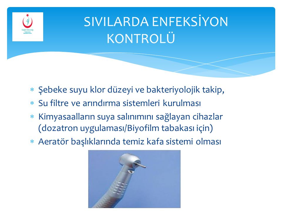 SIVILARDA ENFEKSİYON KONTROLÜ