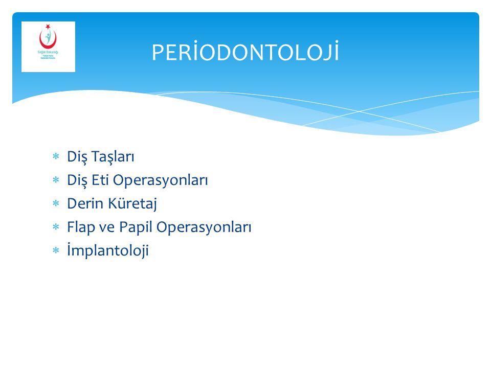 PERİODONTOLOJİ Diş Taşları Diş Eti Operasyonları Derin Küretaj