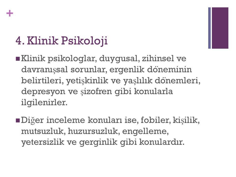 4. Klinik Psikoloji