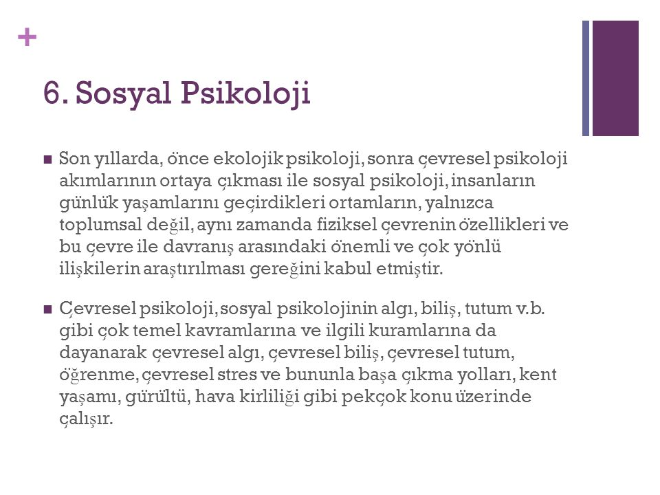 6. Sosyal Psikoloji