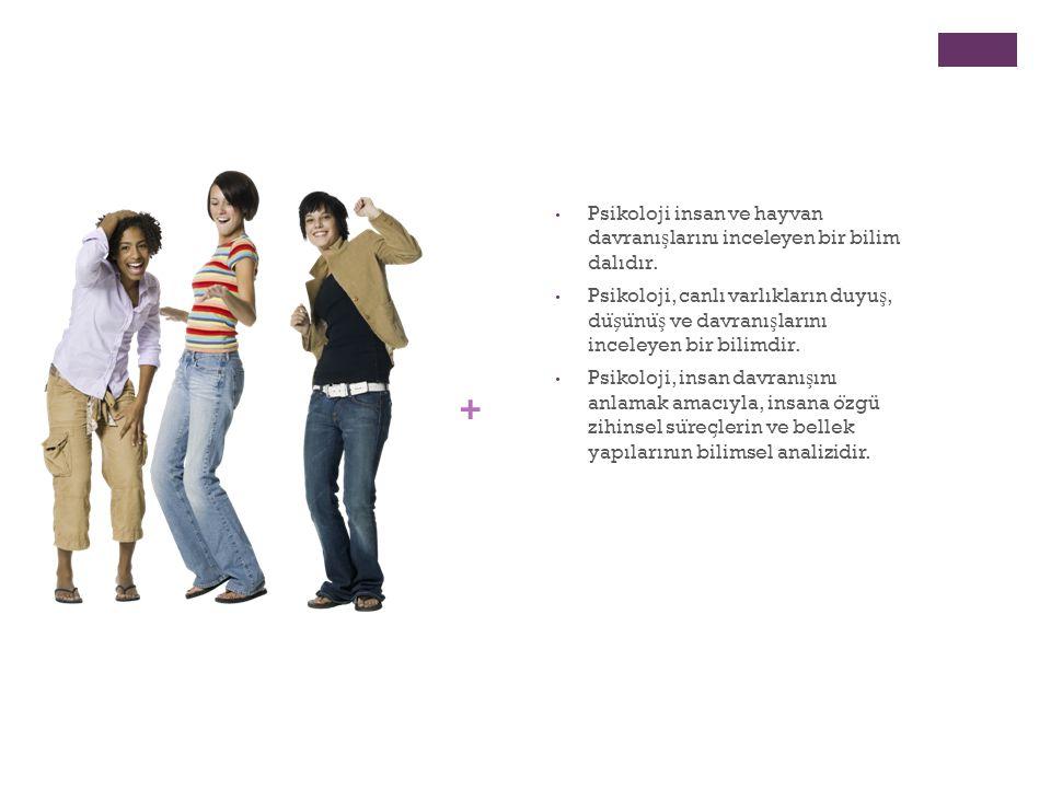 Psikoloji insan ve hayvan davranışlarını inceleyen bir bilim dalıdır.