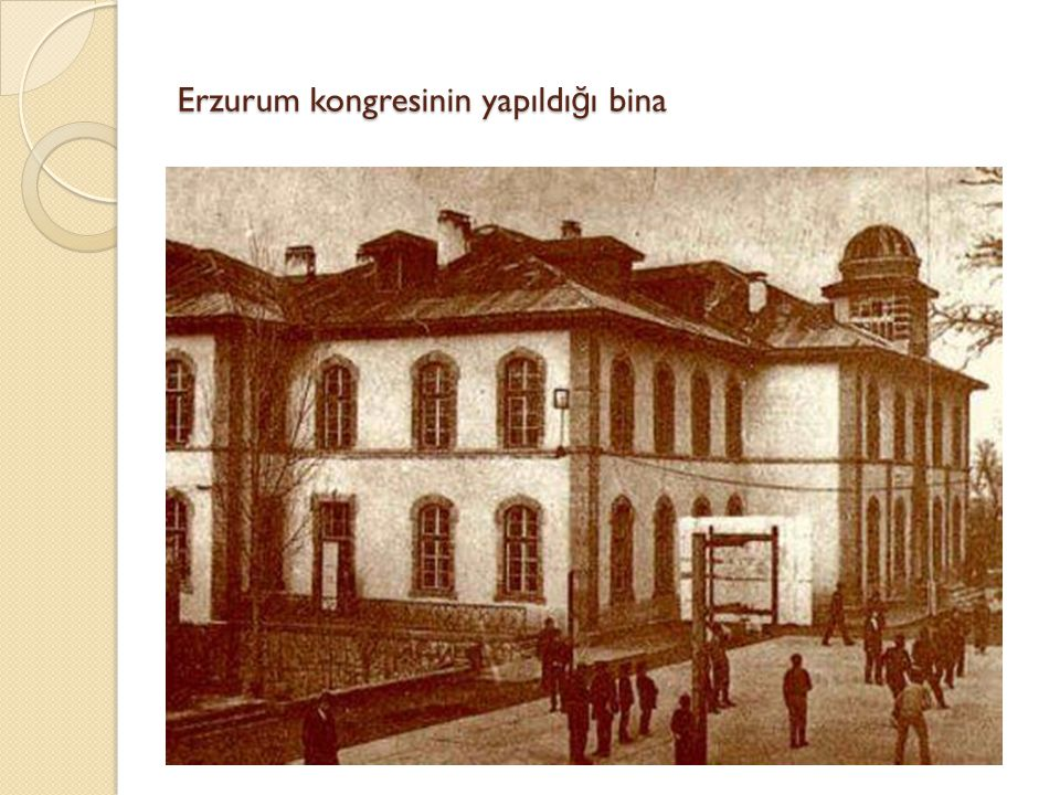 Erzurum kongresinin yapıldığı bina