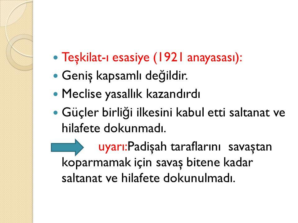 Teşkilat-ı esasiye (1921 anayasası):