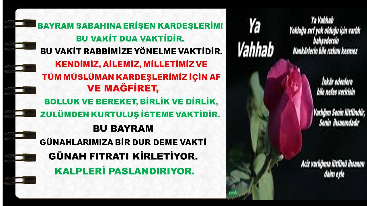 GÜNAH FITRATI KİRLETİYOR. KALPLERİ PASLANDIRIYOR.
