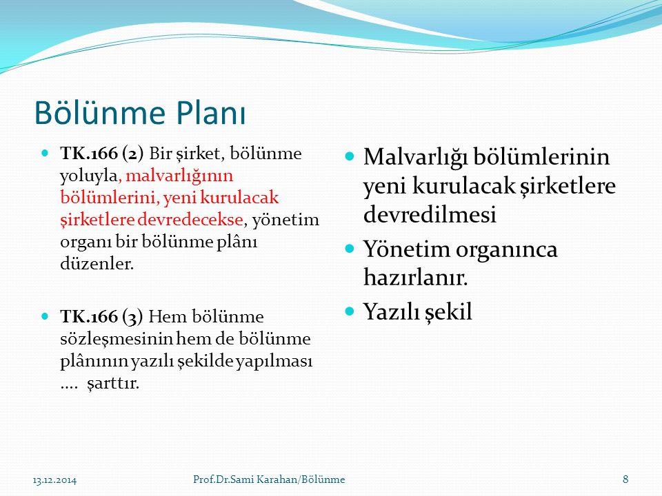 Bölünme Planı