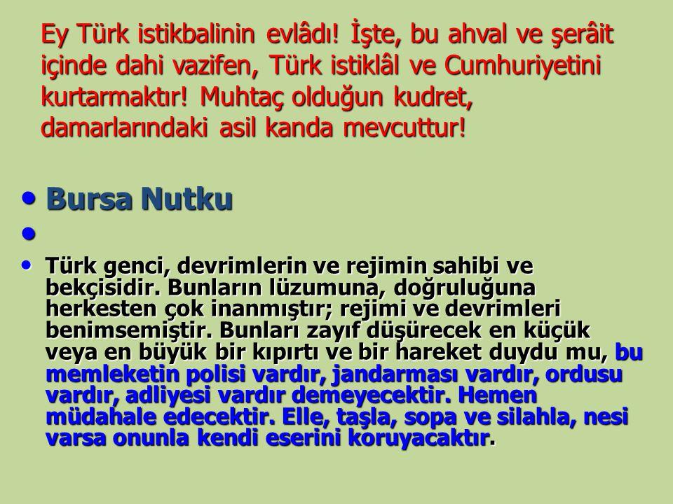 Ey Türk istikbalinin evlâdı