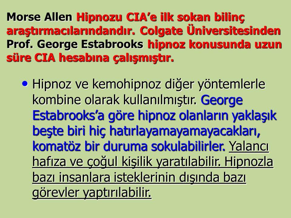 Morse Allen Hipnozu CIA'e ilk sokan bilinç araştırmacılarındandır