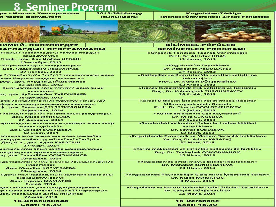 8. Seminer Programı