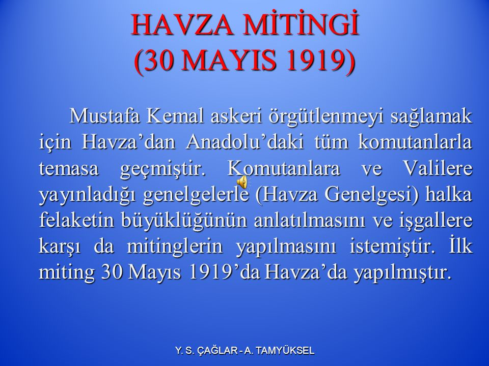 HAVZA MİTİNGİ (30 MAYIS 1919)