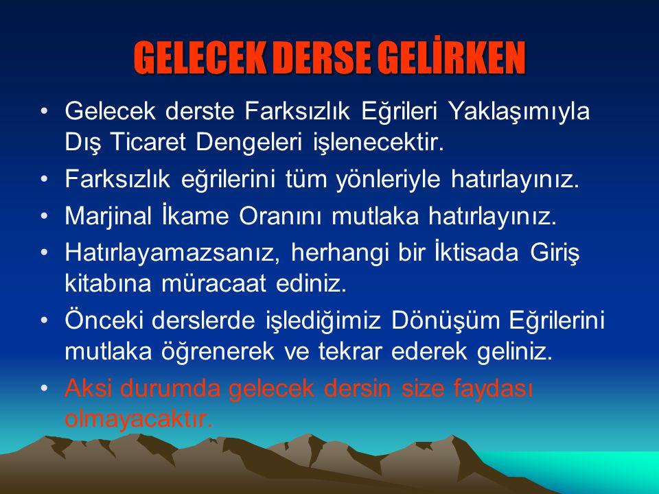 GELECEK DERSE GELİRKEN
