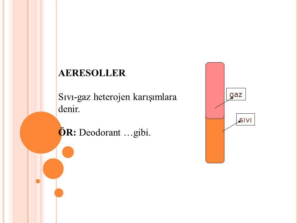 Sıvı-gaz heterojen karışımlara denir.