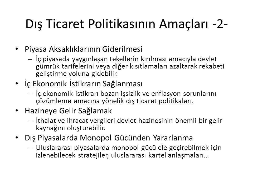 Dış Ticaret Politikasının Amaçları -2-