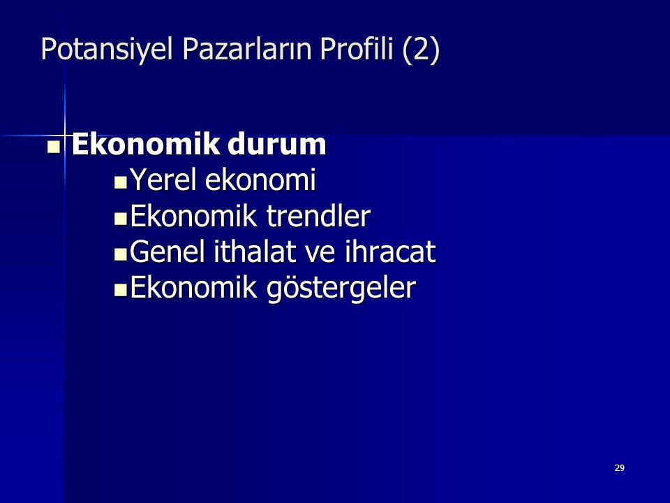 Potansiyel Pazarların Profili (2)