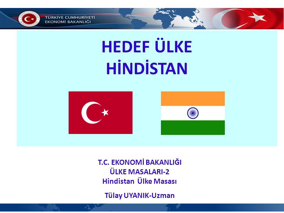 HEDEF ÜLKE HİNDİSTAN T.C. EKONOMİ BAKANLIĞI ÜLKE MASALARI-2