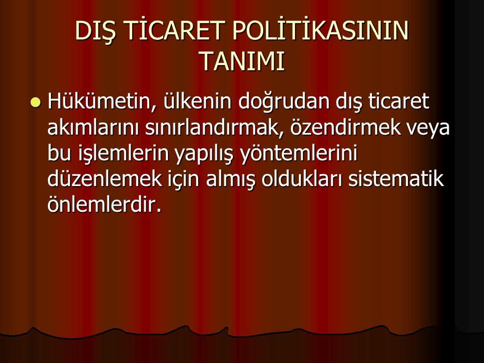 DIŞ TİCARET POLİTİKASININ TANIMI