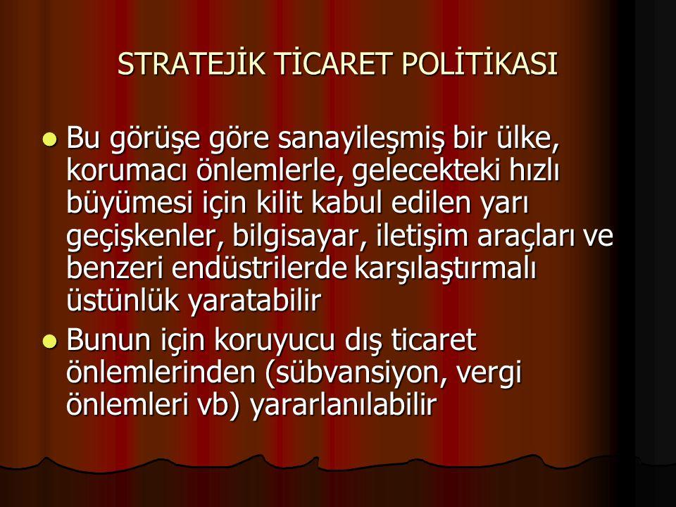 STRATEJİK TİCARET POLİTİKASI
