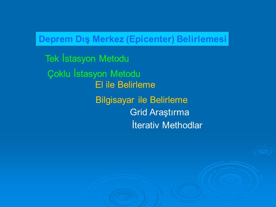 Deprem Dış Merkez (Epicenter) Belirlemesi