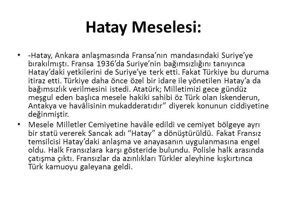 Hatay Meselesi:
