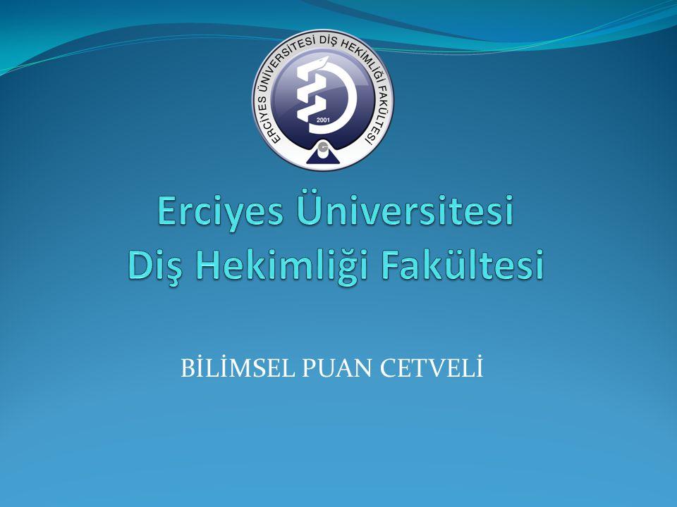 Erciyes Üniversitesi Diş Hekimliği Fakültesi