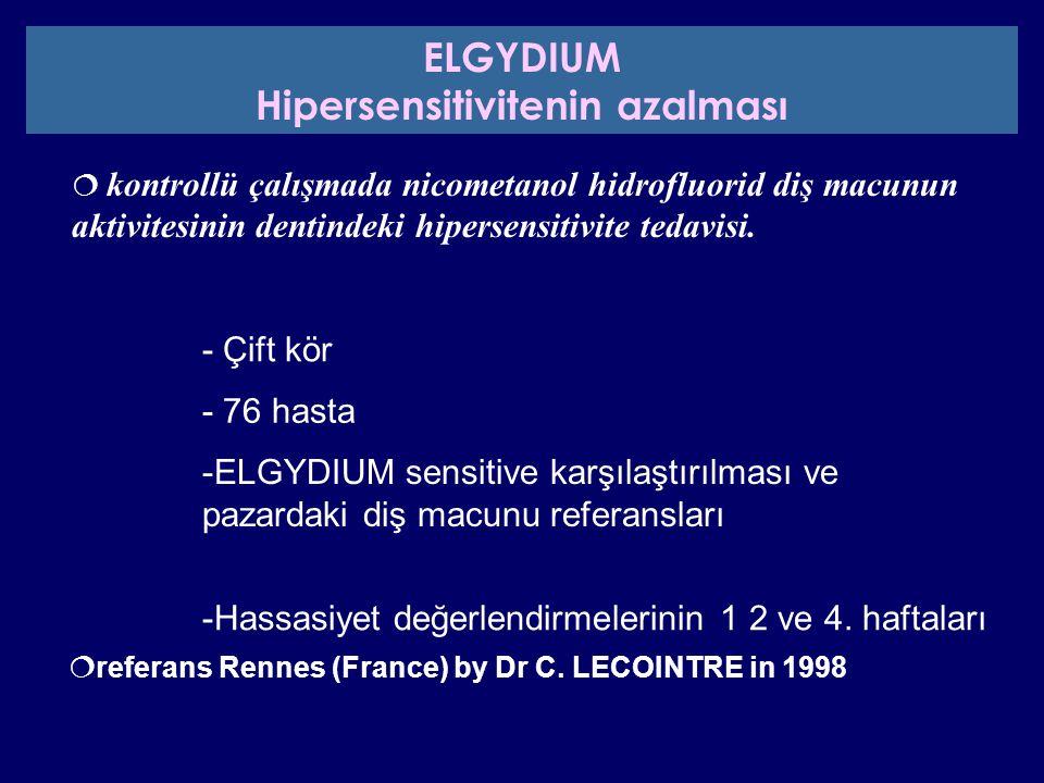 Hipersensitivitenin azalması
