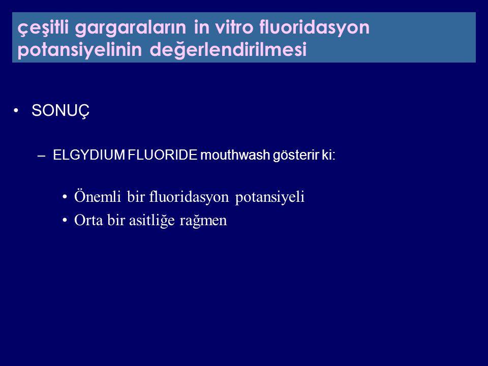 çeşitli gargaraların in vitro fluoridasyon potansiyelinin değerlendirilmesi