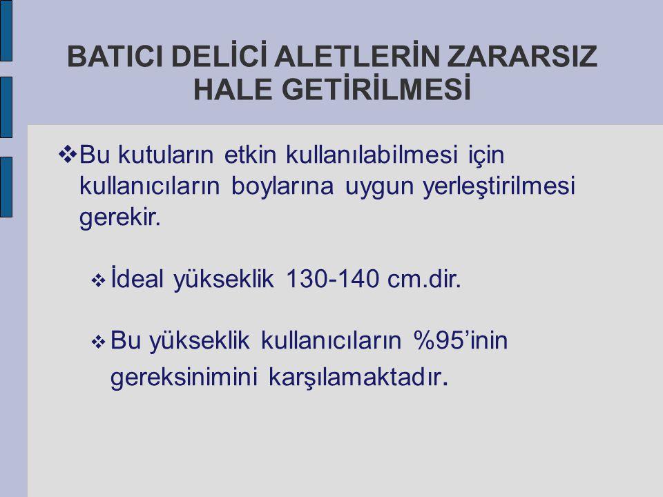 BATICI DELİCİ ALETLERİN ZARARSIZ HALE GETİRİLMESİ