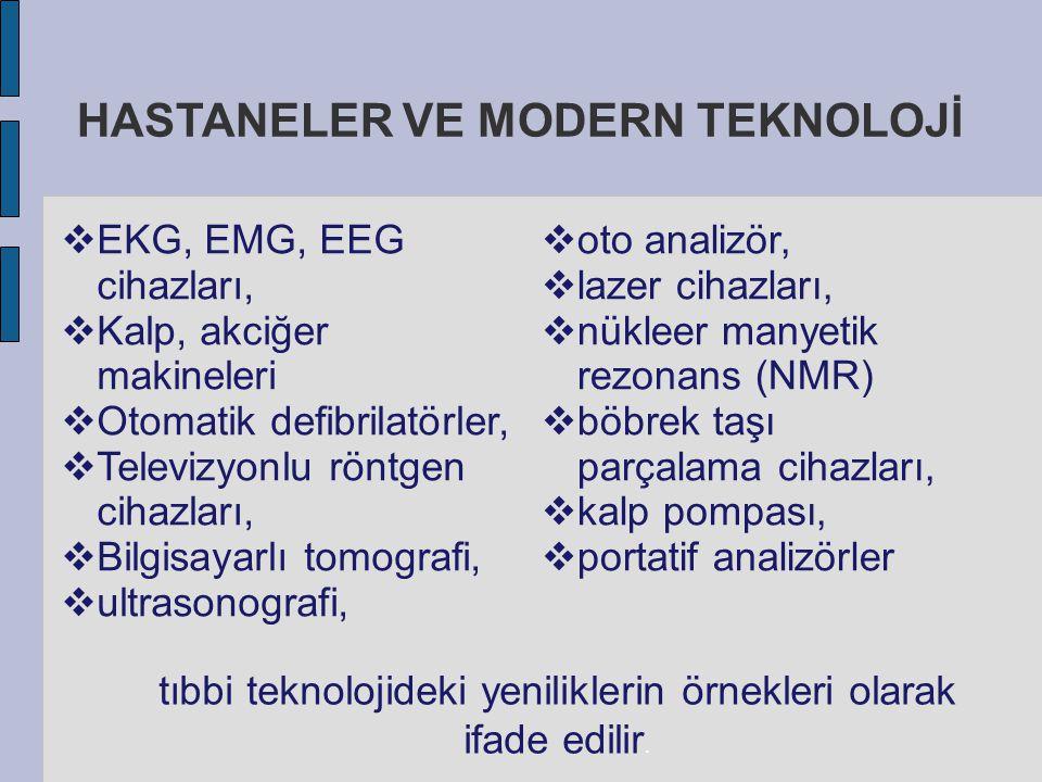 HASTANELER VE MODERN TEKNOLOJİ