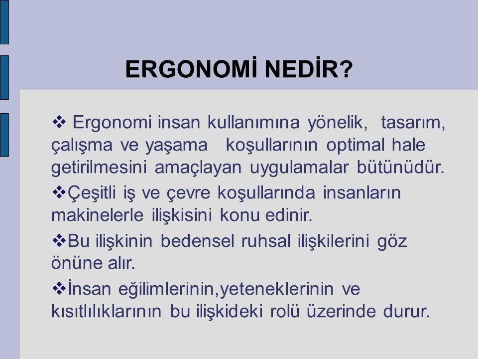 ERGONOMİ NEDİR