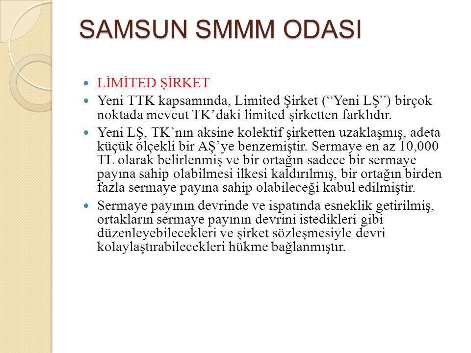 SAMSUN SMMM ODASI LİMİTED ŞİRKET