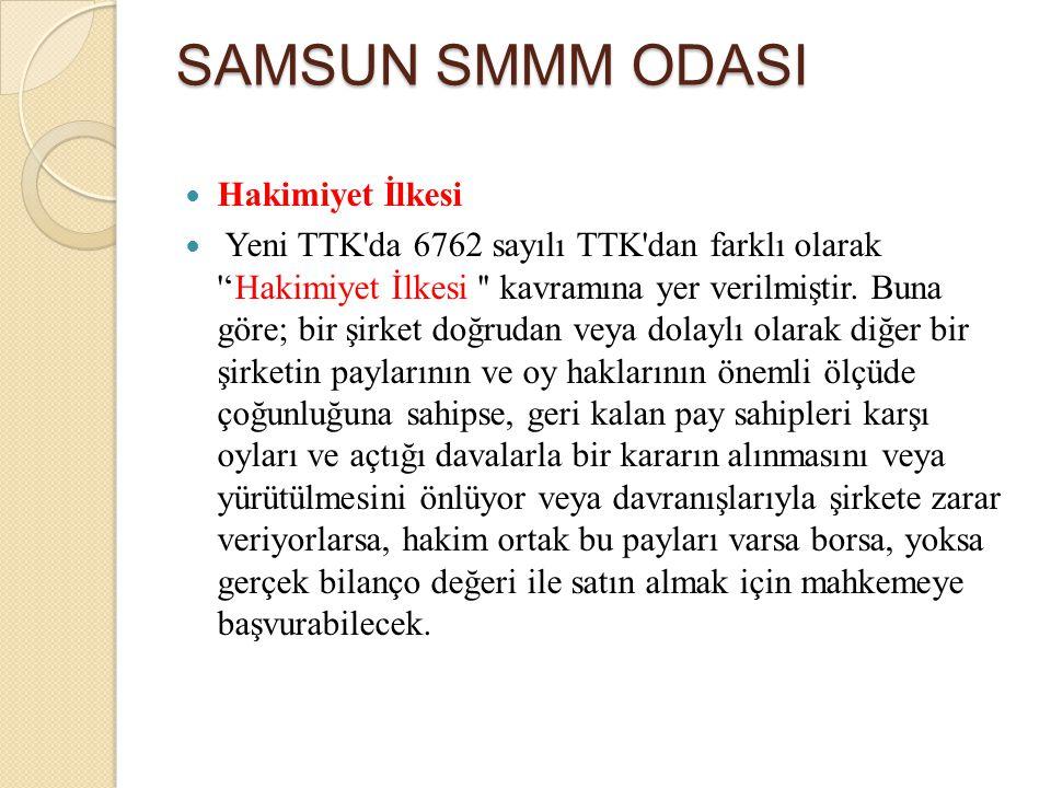 SAMSUN SMMM ODASI Hakimiyet İlkesi