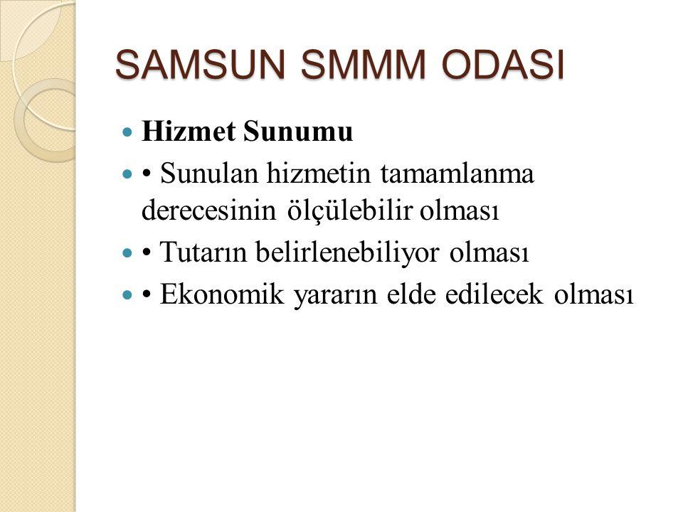 SAMSUN SMMM ODASI Hizmet Sunumu